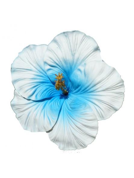 Très gros Hibiscus bleu sur tige métal