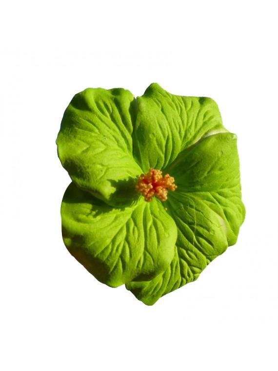 Barrette à cheveux Hibiscus vert