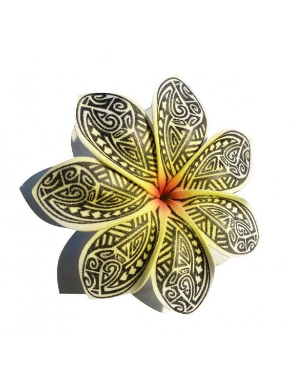 Pinces à cheveux croco fleurs Tatouge Maori