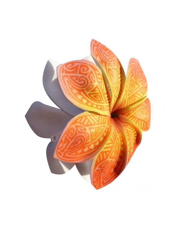 Pinces à cheveux croco fleurs Tatouage Maori