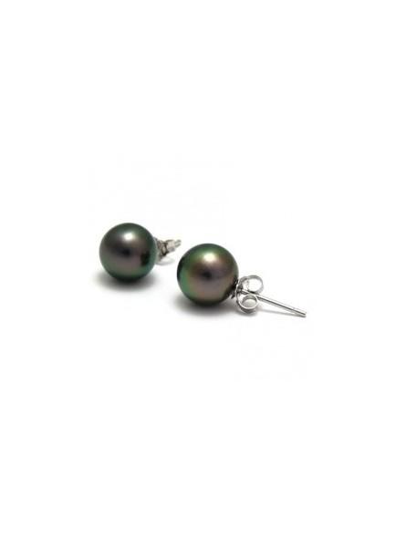 boucle d'oreille perle noir