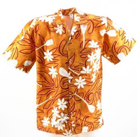 Chemise Tahitienne Tiaré Pagaie