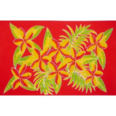 Paréos rouge fleurs toahotu