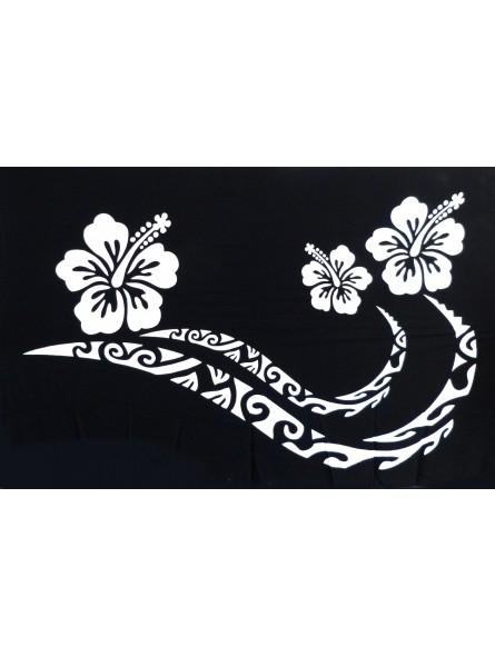 Paréosdouble frise tattoo hibiscus