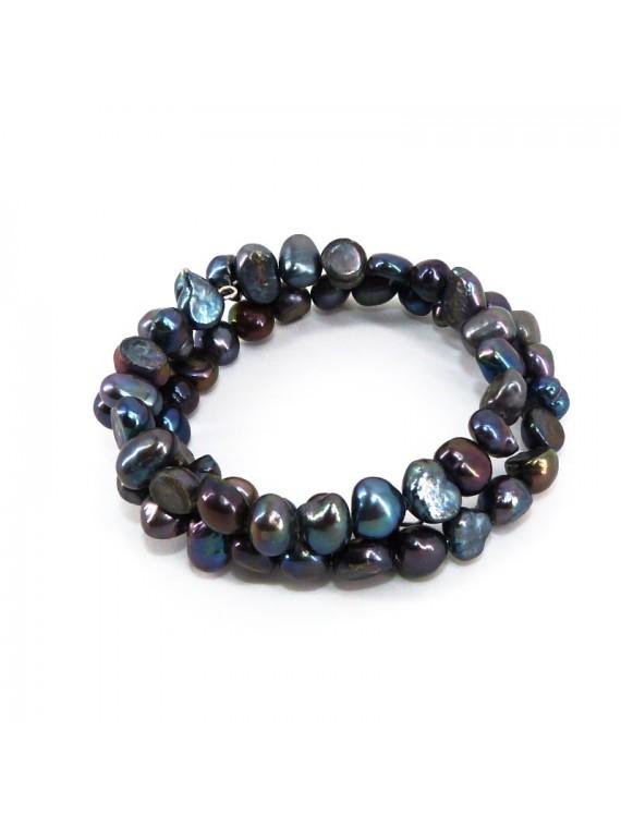 Bracelet en perle de keshi