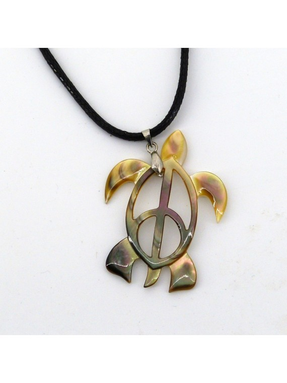 Pendentif peace and turtle