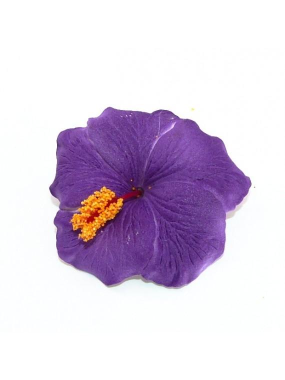 Barrette à cheveux Hibiscus Violet
