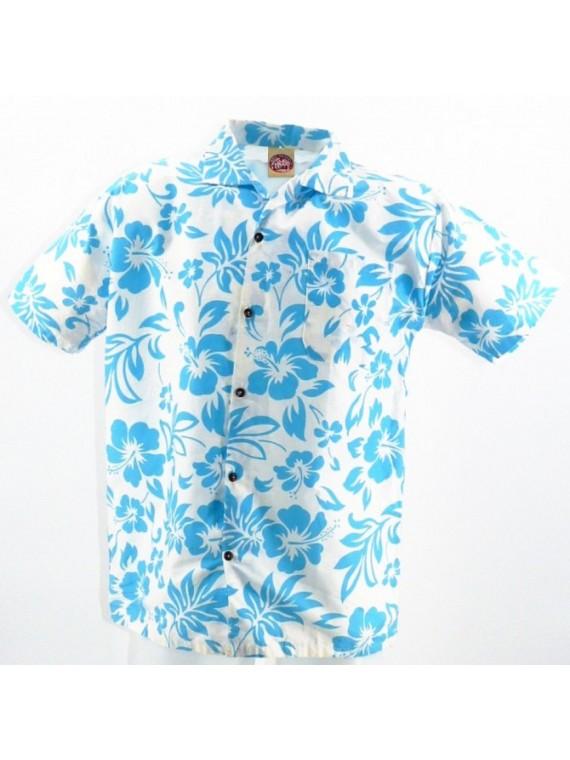 Chemise Hawaïenne fond blanc