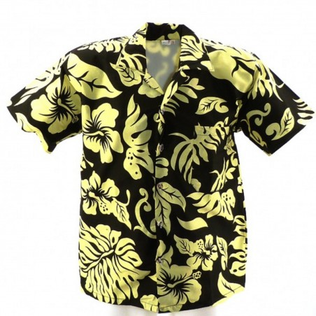 Chemise hawaïenne Hibiscus