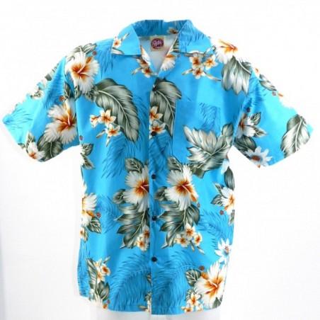 Chemise hawaïenne turquoise bora bora