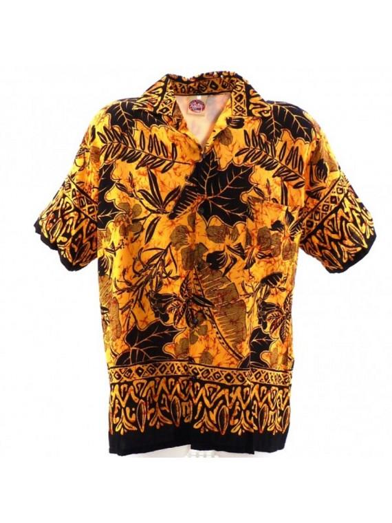 Chemise hawaïenne marron Ruapehu