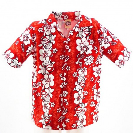 Chemise Hawaïenne rouge Sun Glasses