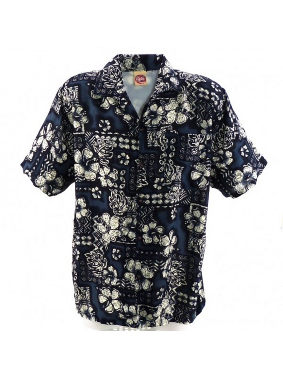 Chemise Hawaïenne TapaHibiscus