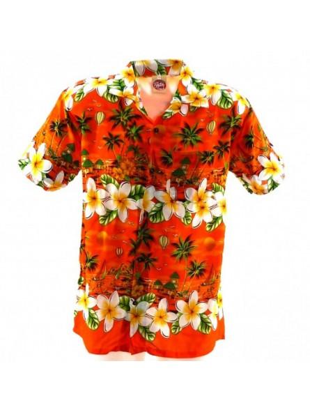 Chemise Hawaïenne Frangipane