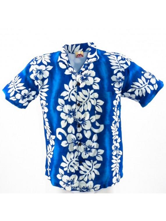 Chemise Hawaïenne hibiscus line enfant