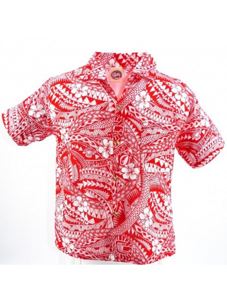 Chemise hawaïenne enfant Polynésian Tattoo