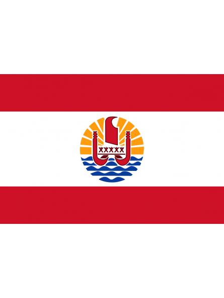 Autocollant  drapeau Polyénsien