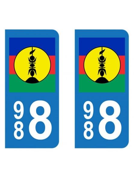 autocollant plaque d 39 immatriculation drapeau nouvelle cal donie produit pacifique. Black Bedroom Furniture Sets. Home Design Ideas