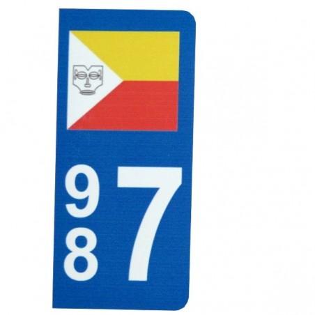 Autocollant Plaque d immatriculation drapeau Marquisien