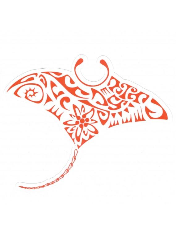 Autocollant Tatouage Raie manta rouge