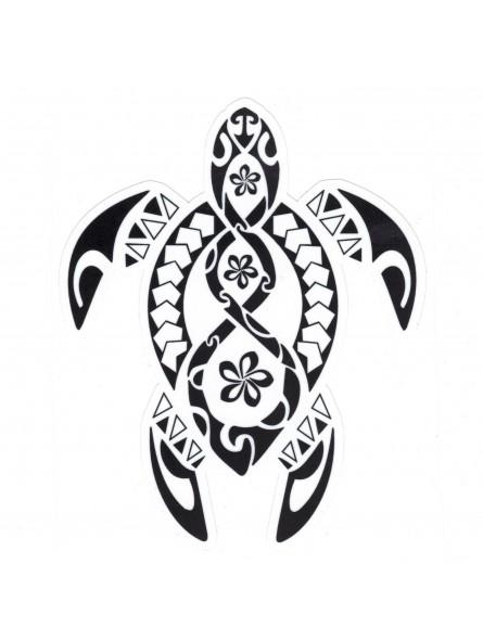 autocollant tatouage tortue triple frangipane noir produit pacifique. Black Bedroom Furniture Sets. Home Design Ideas