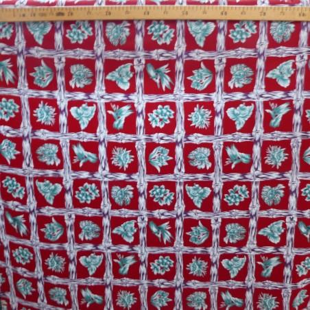 Tissu rouge Bambuseae