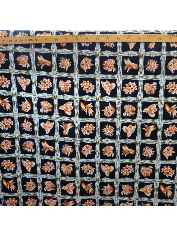 Tissu Noir Bambuseae