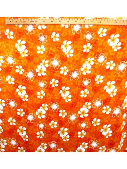 Tissu orange petite frangipane
