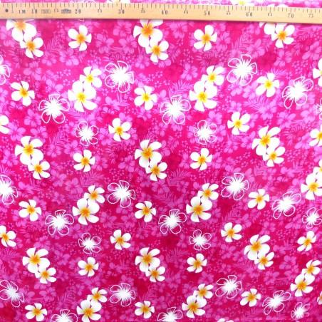 Tissu rose petite frangipane
