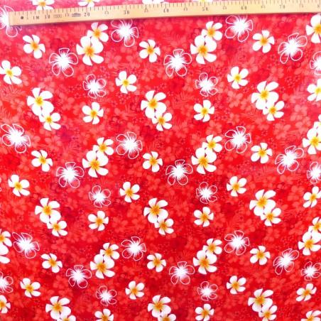 Tissu rouge petite frangipane