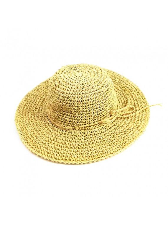 Chapeau de paille crème Beach