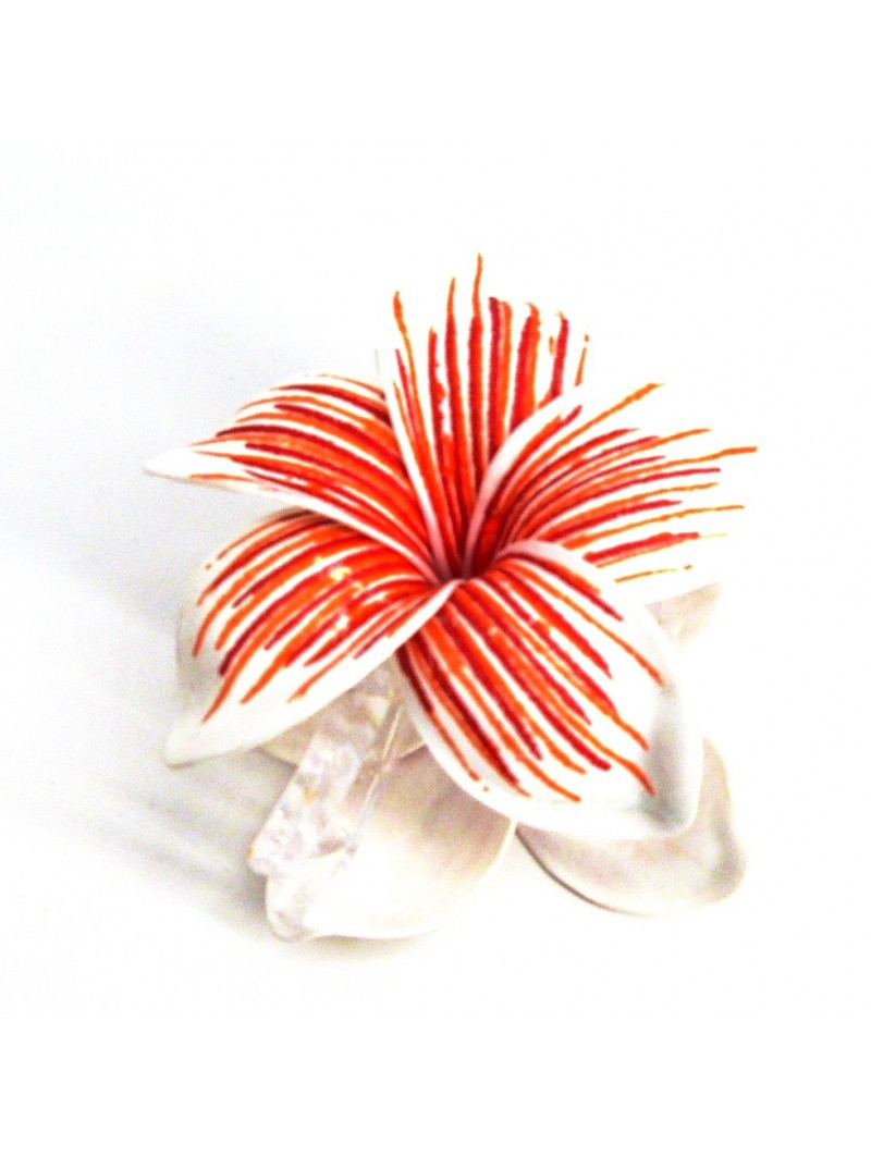 Pinces à cheveux croco frangipane