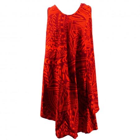 Robe tunique grande taille tatouage polynésien
