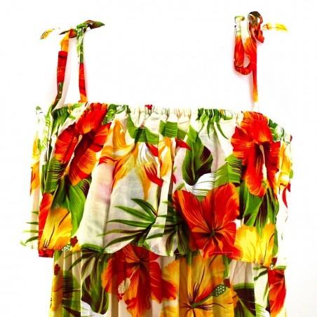 Robe blanche hibiscus bicolor