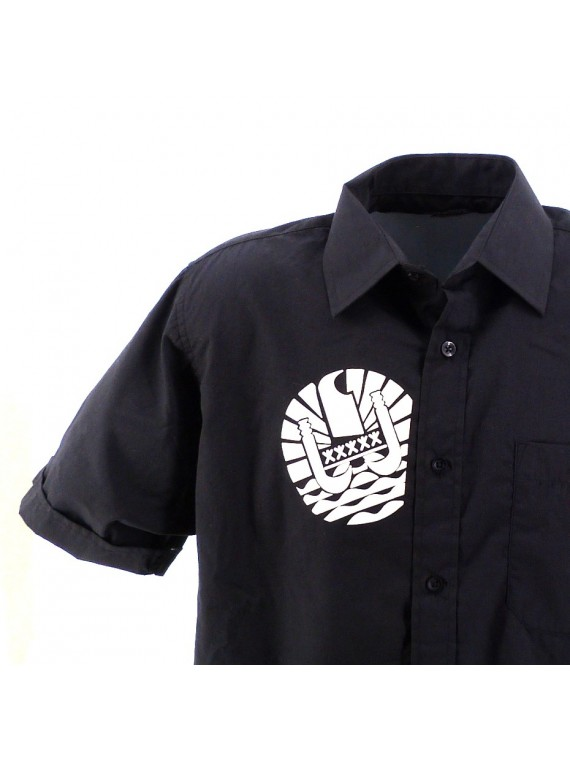 Chemise Noir Blasn Polynésie