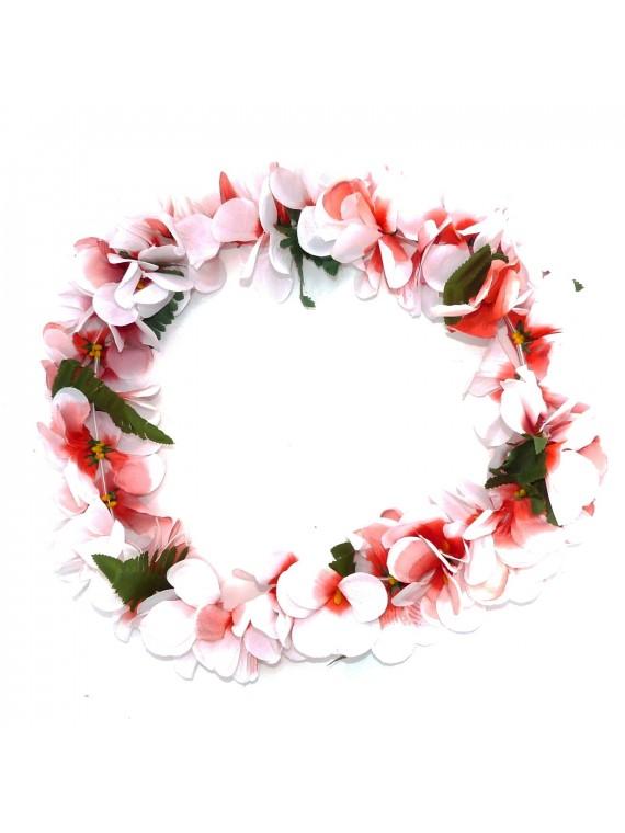 Colliers de fleurs luxe avec petites feuilles par 50