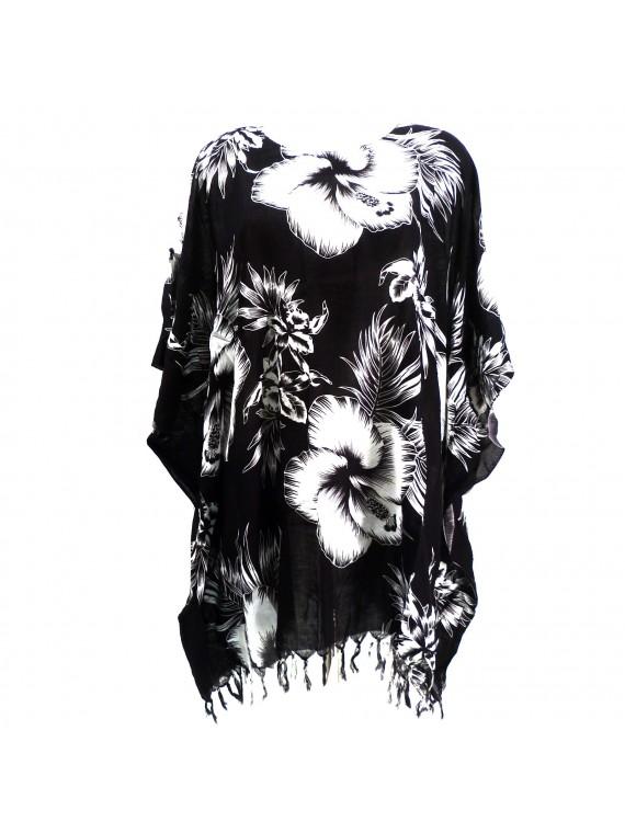 Tunique monochrome noire Femme