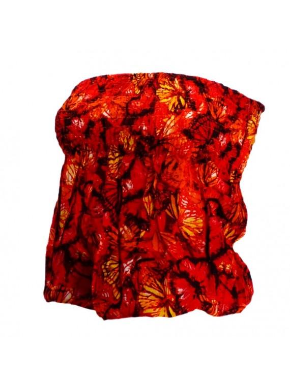 Bustier rouge orangé froncé femme Butterfly