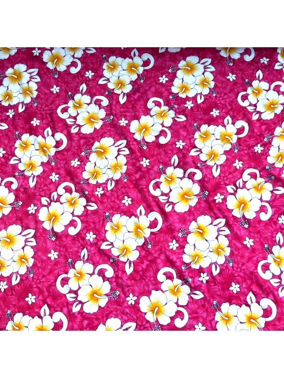 Tissu rose kaoriki