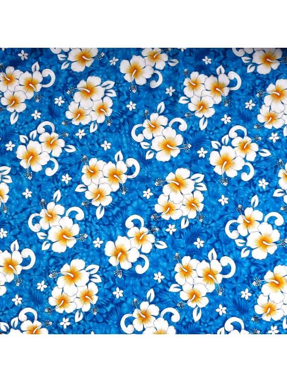 Tissu turquoise karoiki
