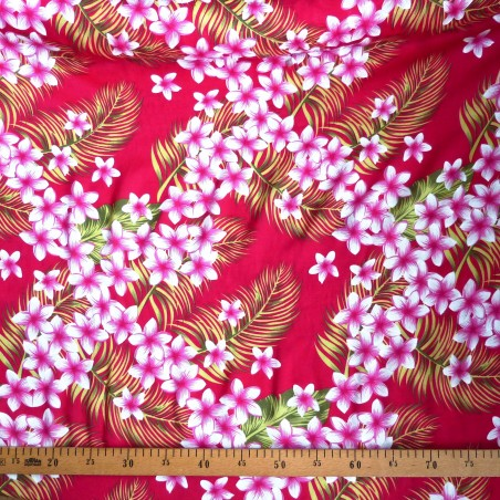 Tissu rose frangipane forest