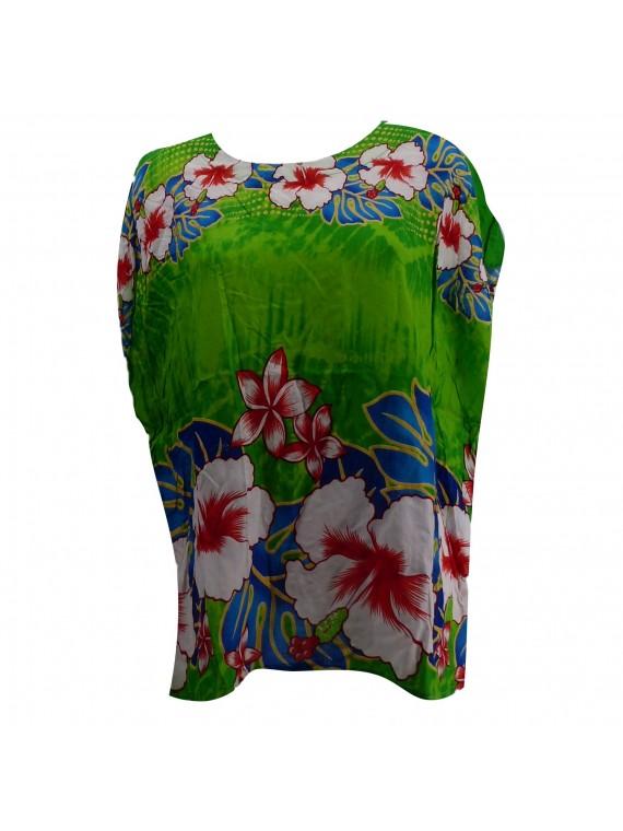 Haut femme vert hibiscus