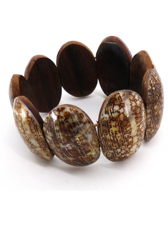 Bracelet noir de coco