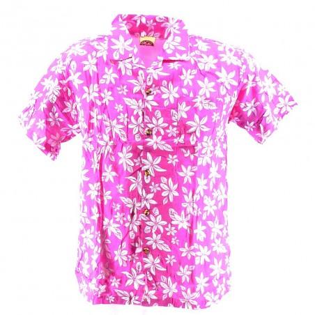 Chemise Hawaïenne rose tiaré