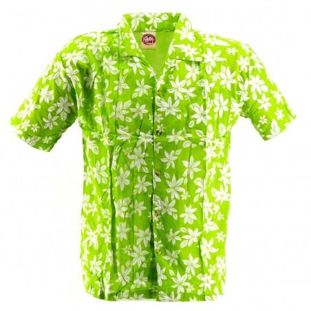 Chemise Hawaïenne vert tiaré