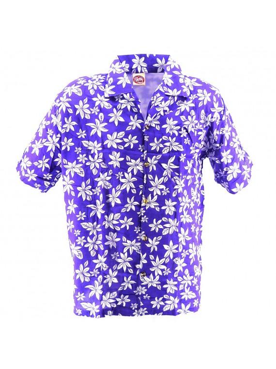 Chemise Hawaïenne violet tiaré