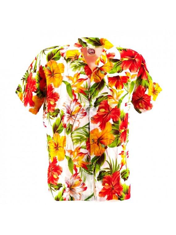 Chemise Hawaïenne blanche Maupiti