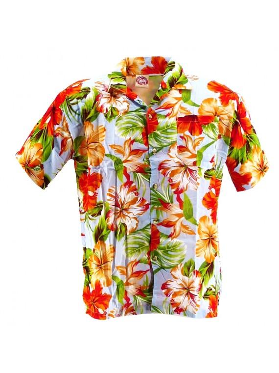 Chemise Hawaïenne bleu ciel Maupiti
