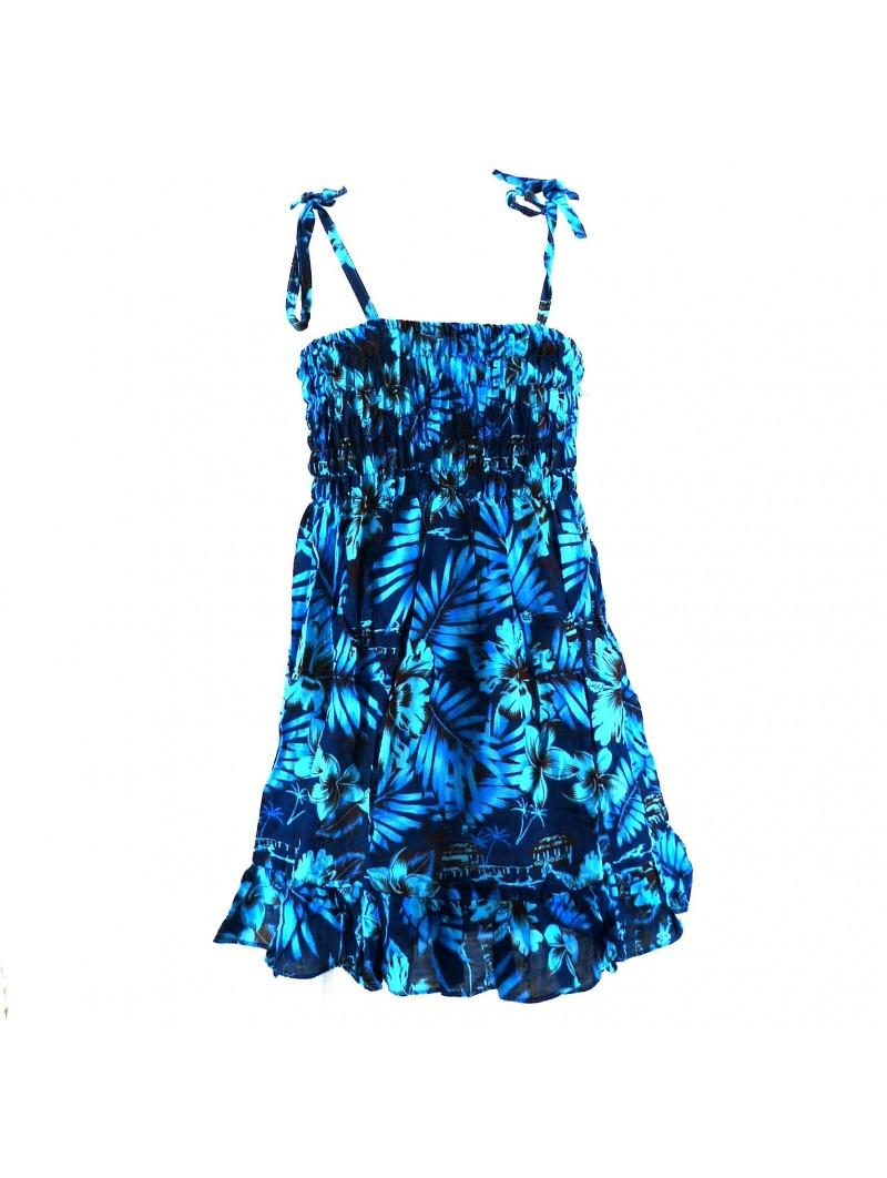 robe enfant bleu Moho