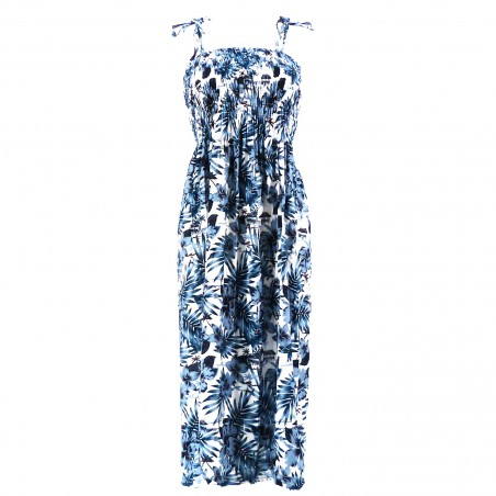 Robe femme moho bleu marine